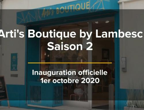 La saison 2 d'Arti's Boutique by Lambesc est officiellement lancée